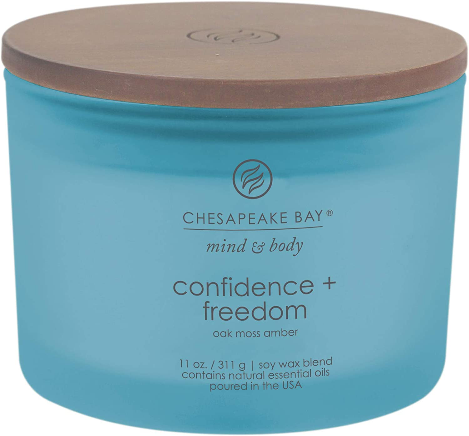 Chesapeake Bay Candle Scented Candle, Confidence + Freedom (Oak Moss Amber), 11 oz
