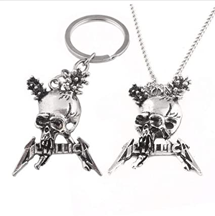 Mddrr Metallica American Metal Band Logo Keychain Colgante ...