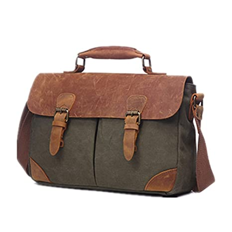DMMW-Luggage Bolsa para Laptop Bolso Bandolera de Lona de ...