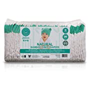 Little Toes Naturally Biodegradable & Hypoallergenic Premium Bamboo Fiber Diaper (Small, 36 Count)