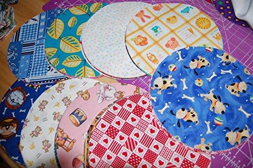 50 Fabric Circles pre cut yo yo circles LOT 100% cotton quilting fabric ()