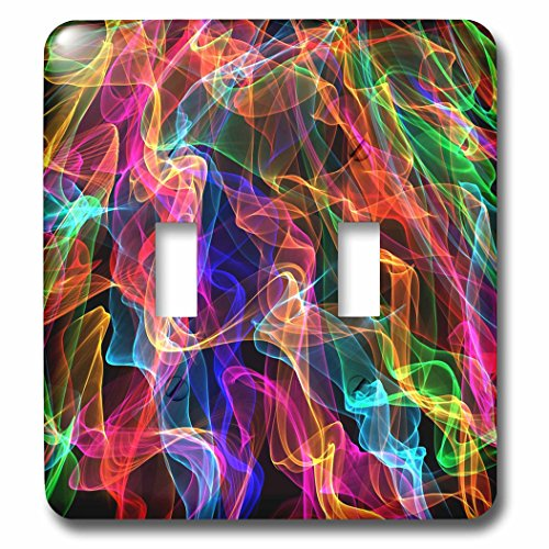 Florene - Fractals - Image of Fractal flames - Light Switch Covers - double toggle switch (lsp_233741_2) (Flames Clock Neon)