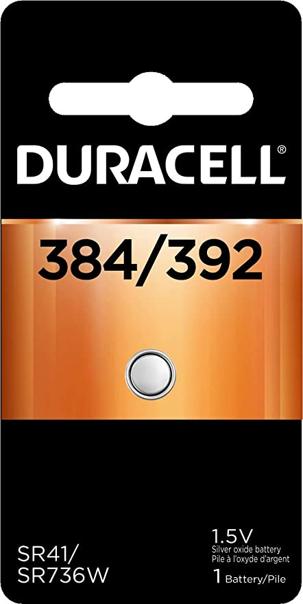 SR41 DURACELL D384//392PK BATTERY SILVER OXIDE 1.55V