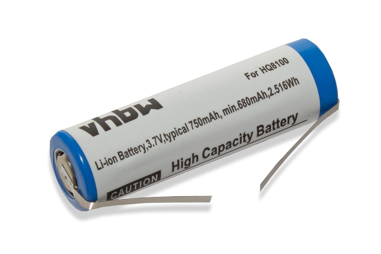 vhbw Batteria 750mAh per Rasoio Philips Norelco HQ7390, HQ8100, HQ8140, HQ8150, HQ8160, HQ8170, HQ8172, HQ8173 come SE VS145000V. VHBW4251258808481