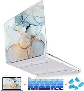 Mektron MacBook Pro 16 inch Cover A2141 2019 Release, Fluid Marble Plastic Hard Laptop Case Shell with Keyboard Skin Screen Protector for 16 inch MacBook Pro with Touch bar & Touch ID