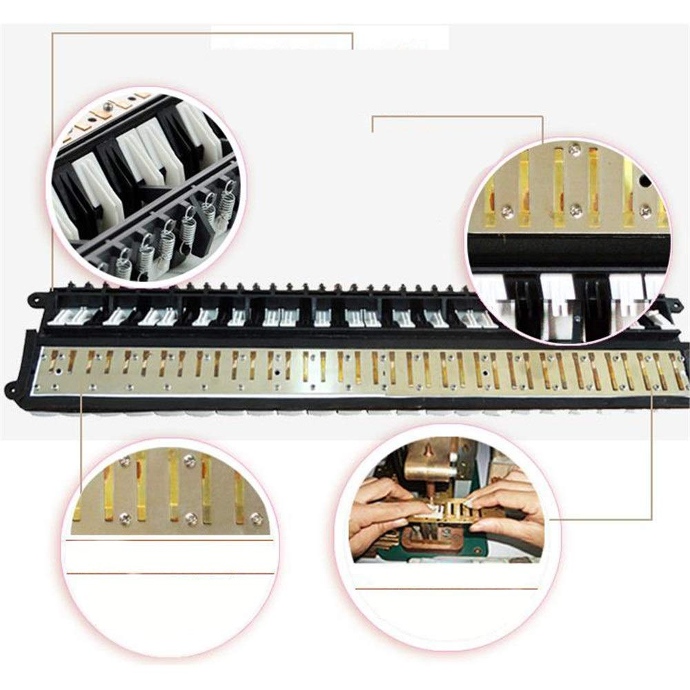Melodica Musical Instrument Educational Portable 37 Keys Melodica Instrument Piano Style Full Sets With Carrying Bag Straps Double 2 Mouthpieces Tube Musical Gift Toys For Kids Beginners Students for by Shirleyle-MU (Image #5)