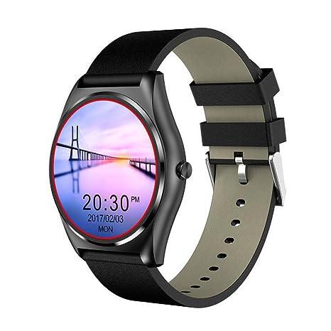 DUWIN Redonda de Pantalla Inteligente Reloj de Apoyo de Control de Ritmo Cardíaco de Llamada Bluetooth