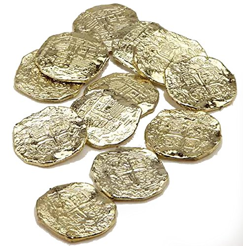 J22330 Bag Of 12 Gold Doubloons Plastic