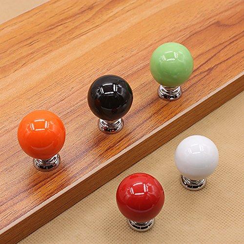 Zhi Jin 6Pcs Cute Cabinet Knobs Handle Round Ball Drawer Knob Pulls Set for Kids Kitchen Cupboard Orange by Zhi Jin (Image #4)