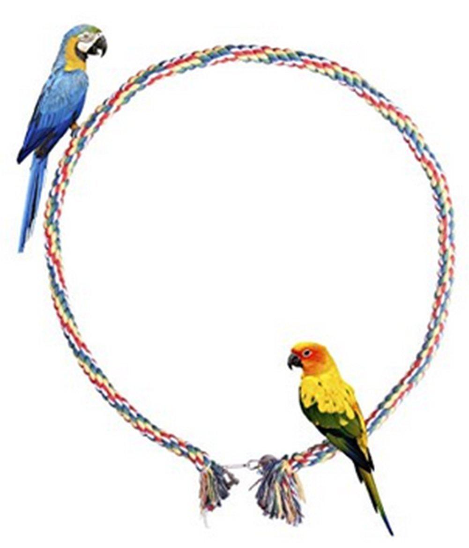 Mackur Papageien Spielzeuge Weben Leiter Papageien Kletterseil mit Glocke f/ür Kleine Papageien und Andere Kleine V/ögel 1 St/ück Size 2M