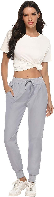 Abollria Pantalones Deportivos Largos Mujer,Pantalones de Entrenamiento Casual para Correr Jogger Pantal/ón Mujer para Yoga Running Fitness