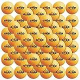 GOGO 72 Pieces 3-Star Orange Ping Pong Balls Premium Table Tennis Balls (12 Tubes)-Orange