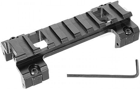 Sutter Montura Mira Telesc/ópica y Visor//Longitud 90 mm//Apto para Weaver y Picatinny//Adaptador y Montaje de Altura
