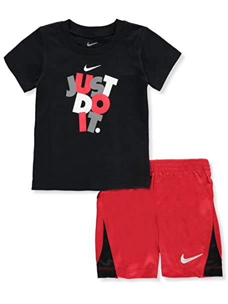 f97605a4a1 Amazon.com: NIKE Boys' 2-Piece Outfit - Black, 12 Months: Clothing