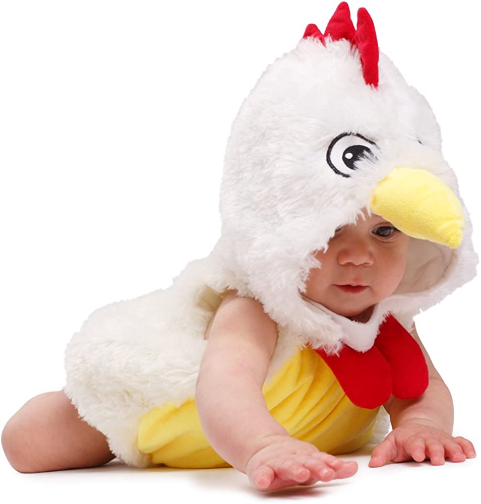 Dress-Up-America Baby Rooster Costume Infant Halloween Chicken Costume For Girls And Boys