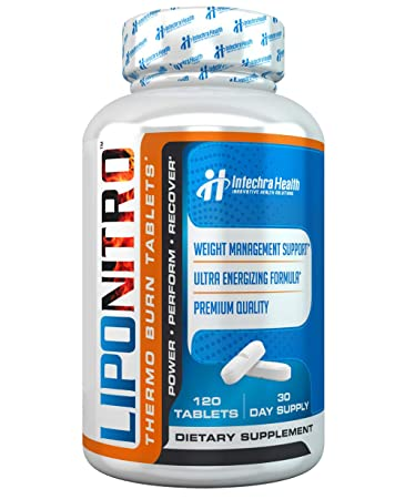 Liponitro Maximum Strength Thermo Burn Diet Pills With Nitro Energy Scientifically Researched