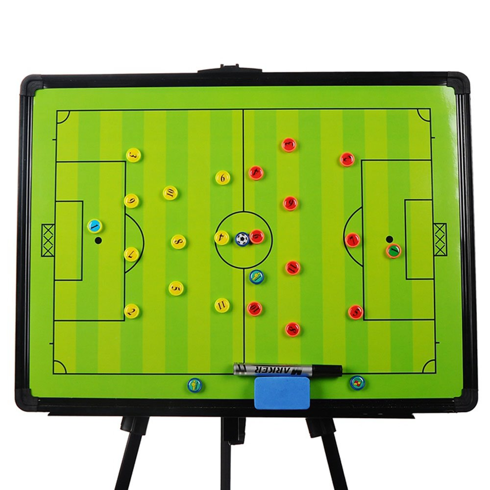 Odowalker Soccer Football Tactic Coaching Board Strategy Game Plan Whiteboard Dry Erase Marker Board Training Equipment - Large Size with Tripod Stand and Carrying Tote by Odowalker (Image #2)