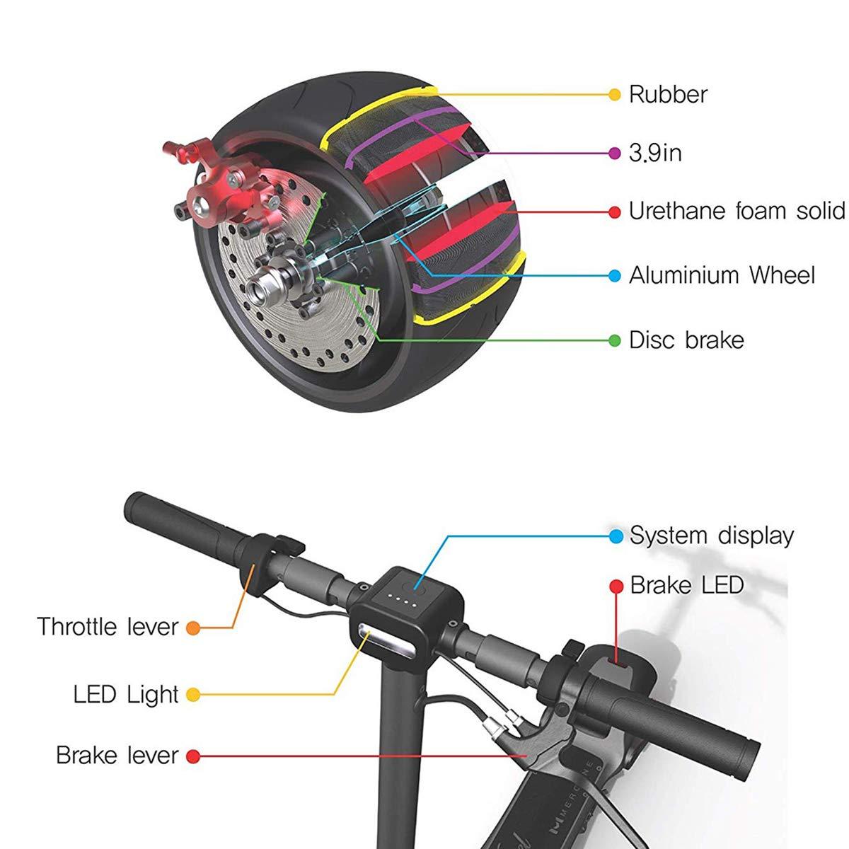 Amazon.com: WiLEES Patinete eléctrico plegable 15 mph 30 ...