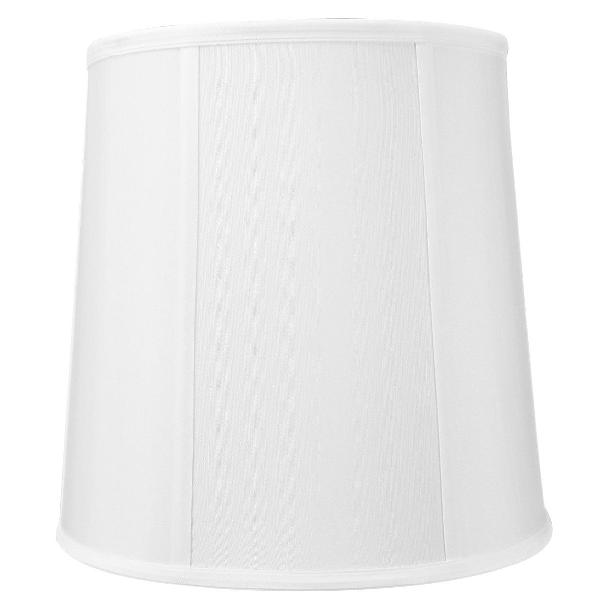 10x12x12 White Linen Fabric Drum Lampshade with Brass Spider fitter By Home Concept - Perfect for table and desk lamps - Medium, White
