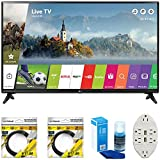 "LG 49"" Class Full HD 1080p Smart LED TV 2017 Model (LG49LJ5500) with 2x 6ft High Speed HDMI Cable, Screen Cleaner for LED TVs & Transformer Tap USB w/ 6-Outlet Wall Adapter and 2 Ports"