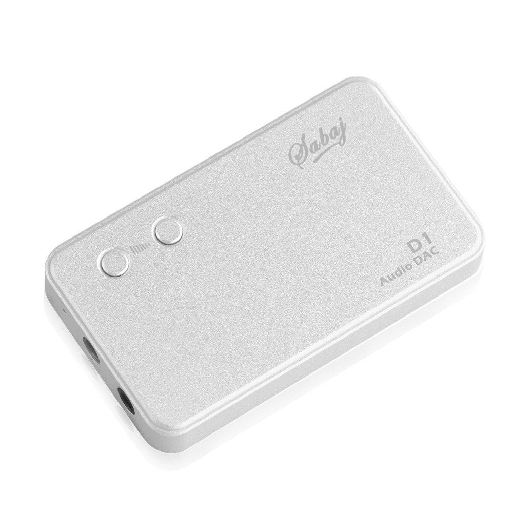 SABAJ Audio D1 portable headphone amplifier with build-in DAC Silver color