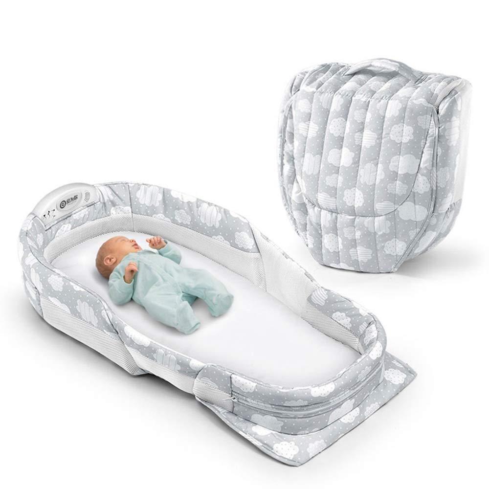 HUO ポータブルベッドベッドベビー幼児折りたたみバイオニックベッド6カラー100 * 40 * 16CM (色 : A)  A B07LCLH8ZJ