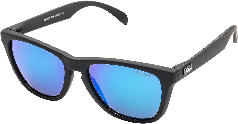 Tirol Silvretta schwarz//blau revo polarisierte Sonnenbrille