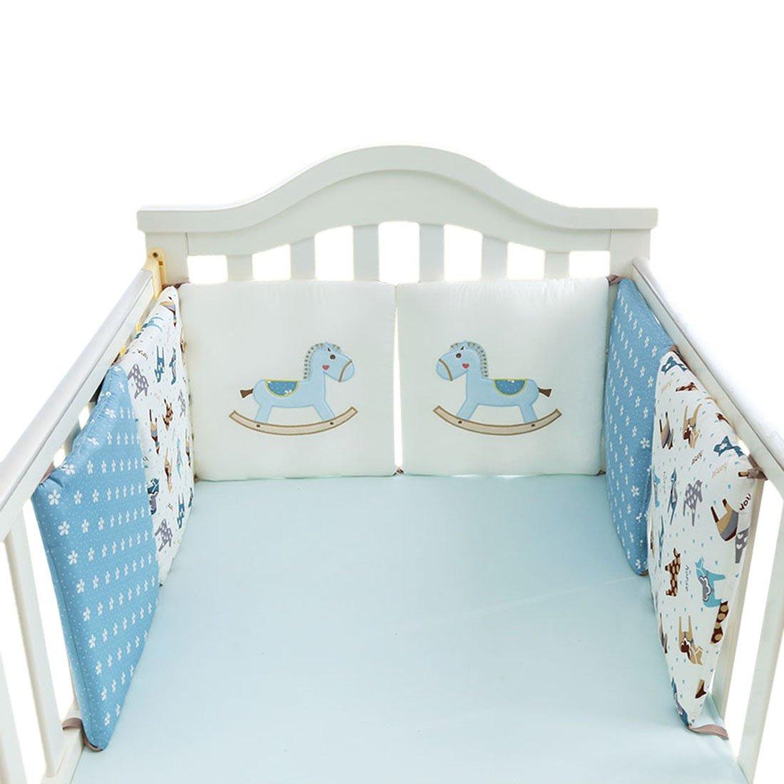 Jiyaru Ropa para cuna camas de bebé 6 Piezas Set Protector de Cuna 30 * 30
