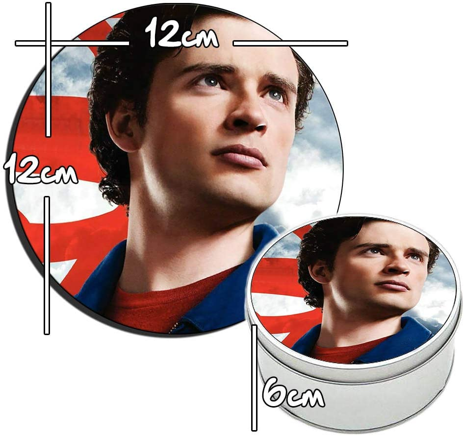 MasTazas Smallville Clark Kent Tom Welling A Bo/îte M/étallique en Fer-Blanc Metal Tin Box