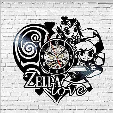 wczzh Legend of Zelda 3D Disco De Vinilo CD Reloj De Pared ...