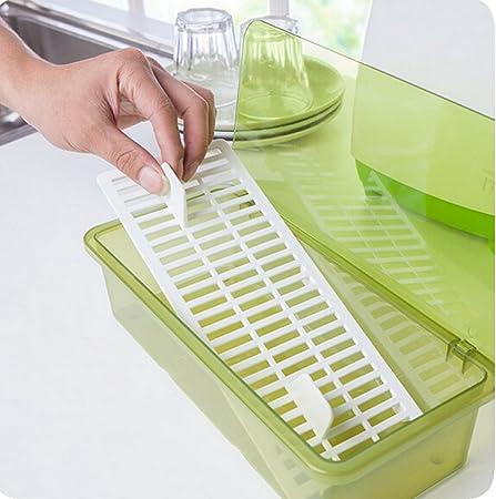 asentechuk® plástico polvo Cubiertos caja de almacenaje Caja de ...