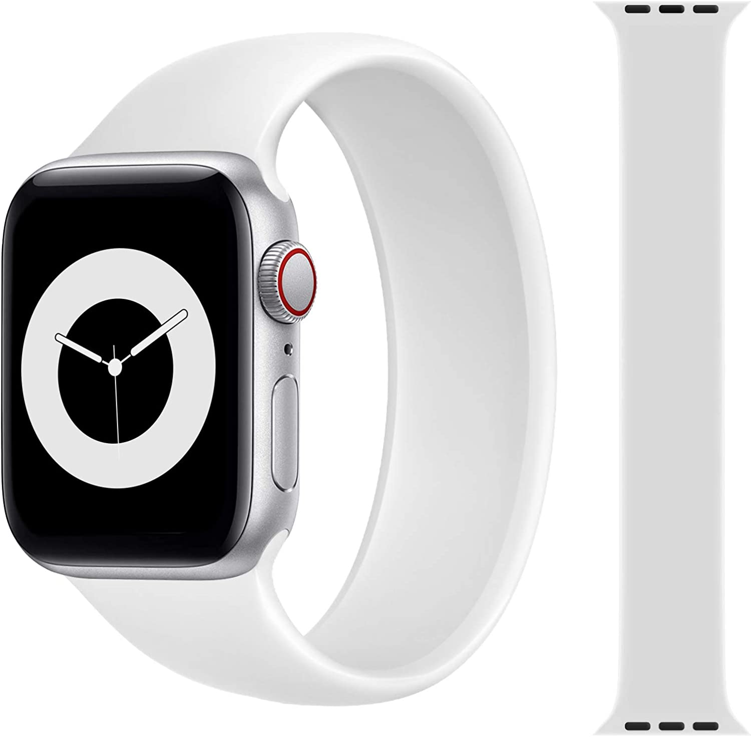 JIELIELE Solo Loop Strap Compatible with Apple Watch Band 38mm 40mm 42mm 44mm, Sport Elastics Silicone Apple Watch Bands Women Men, Replacement Wristband for iWatch Series 6 5 4 3 2 1 SE (S M L)