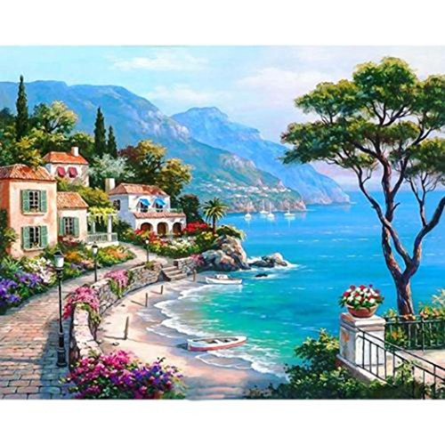 Botrong Full Drill DIY 5D Diamond Painting Embroidery Cross Crafts Stitch Kit Home Decal (12X16inch / 30X40CM) ()