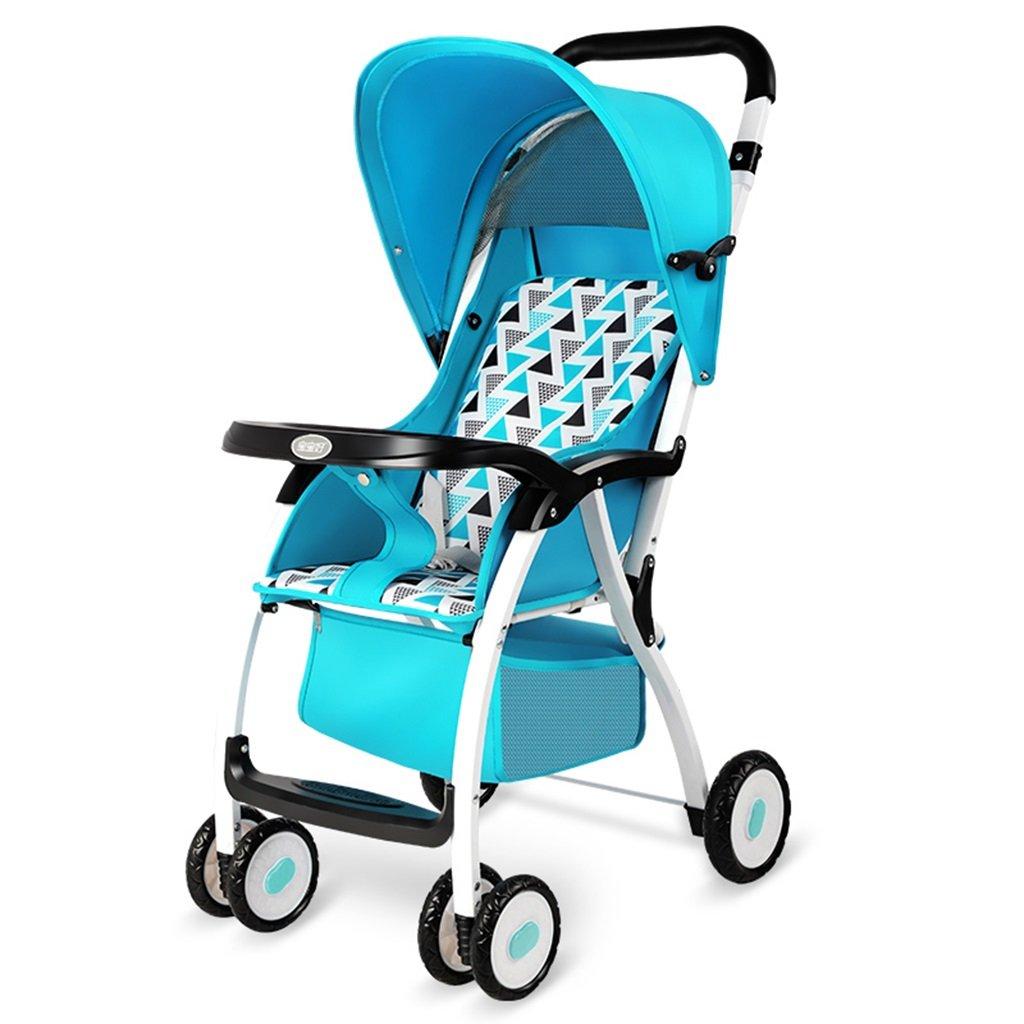 HAIZHEN マウンテンバイク 赤ちゃんカートアイロンフレーム布クッション折りたたみ可能な軽量ポータブル調節可能な日除け日保護アンチUVトロリーは座ることができます/赤ちゃんのキャリッジを嘘つきすることができます75 * 48 * 106センチメートル 新生児 B07DL7PBNC 3 3