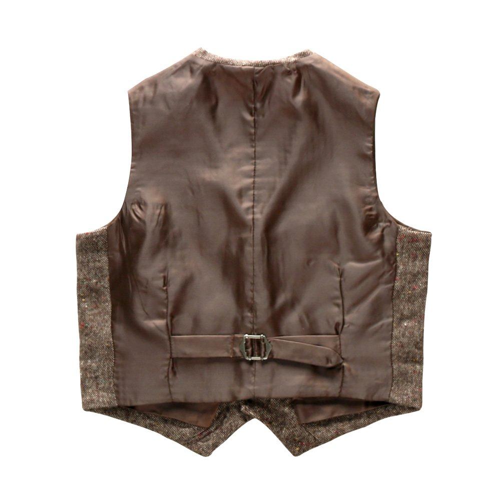 Coodebear Boys Girls Top Design Casual Waistcoat Pockets Buttons V Collar Vests