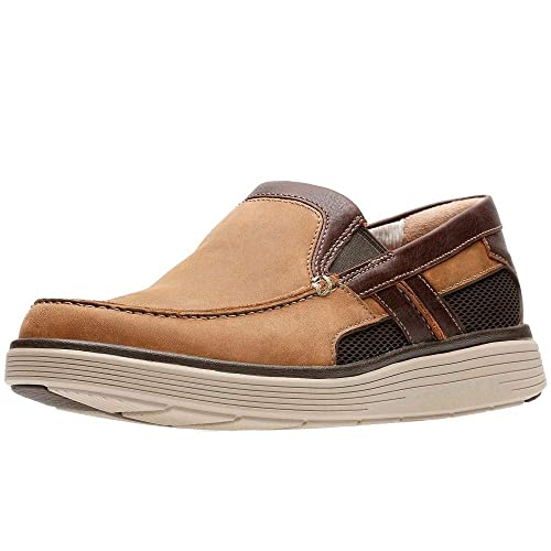 Clarks Un Abode Free Mens Wide Fit Slip On Shoes 11 UK/46 EU Cuero