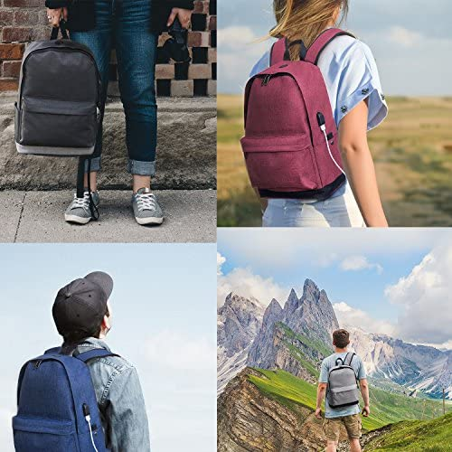 Laptop Backpack College High School Student Backpack with Charger for Women and Teens Water