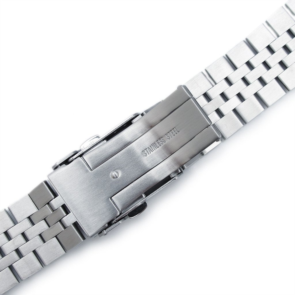 22mm Super Jubilee 316L Stainless Steel Watch Band, Solid Straight End 2.5mm Spring Bar by 22mm Metal Band by MiLTAT (Image #5)