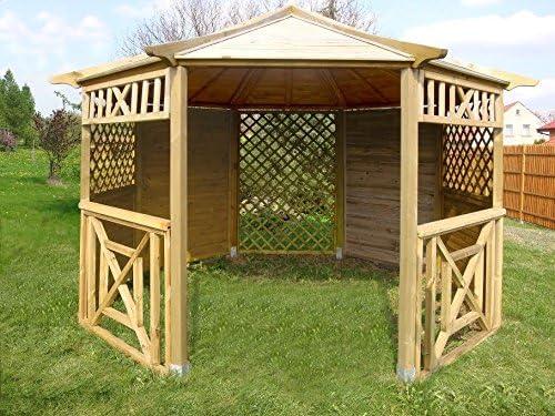 Pérgola de madera octogonal de jardín para tejas, colores ...
