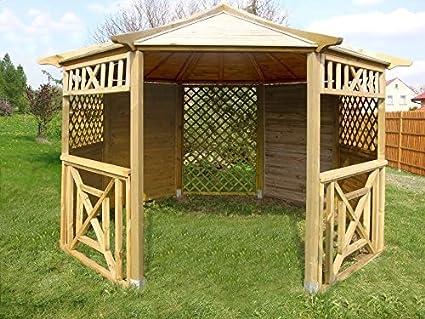 Garden Wooden Gazebo Pavilion Hot Tub Octagonal Diameter 35 M