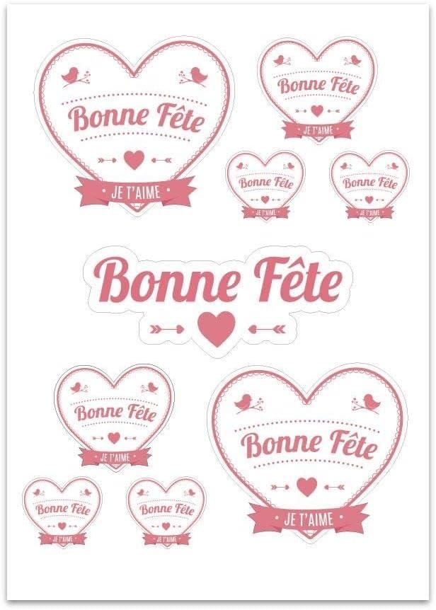 E74 Planche A4 de stickers Bonne f/ête