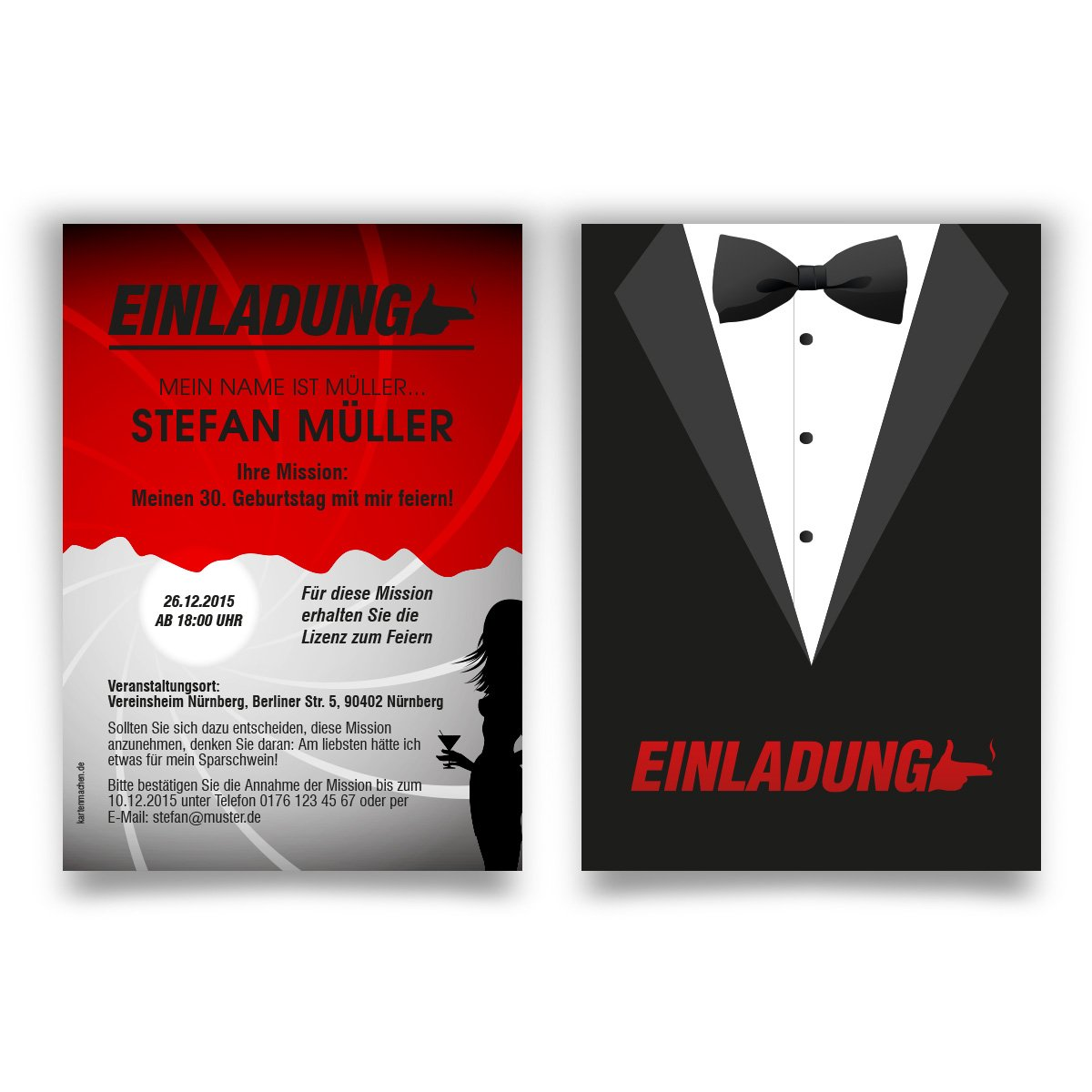 Birthday Invitations Pack Of 20 Secret Agent Mission Spy Party