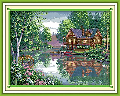 Happy Forever Cross Stitch Scenery, Leisure - Leisure Hut