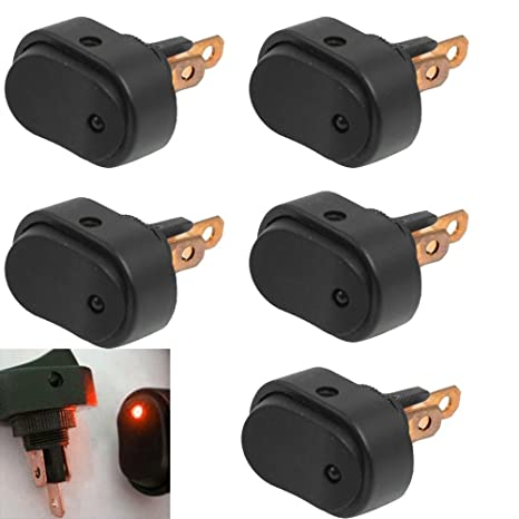 20 X 12V Auto KFZ EIN//AUS Wippenschalter Switch LED Beleuchtet Wippschalter AT
