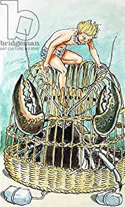 Crab Basket, illustration from the water Babies by Charles Kingsley, 1965 (Gouache on Paper) (288664), lino, 40 x 70 cm