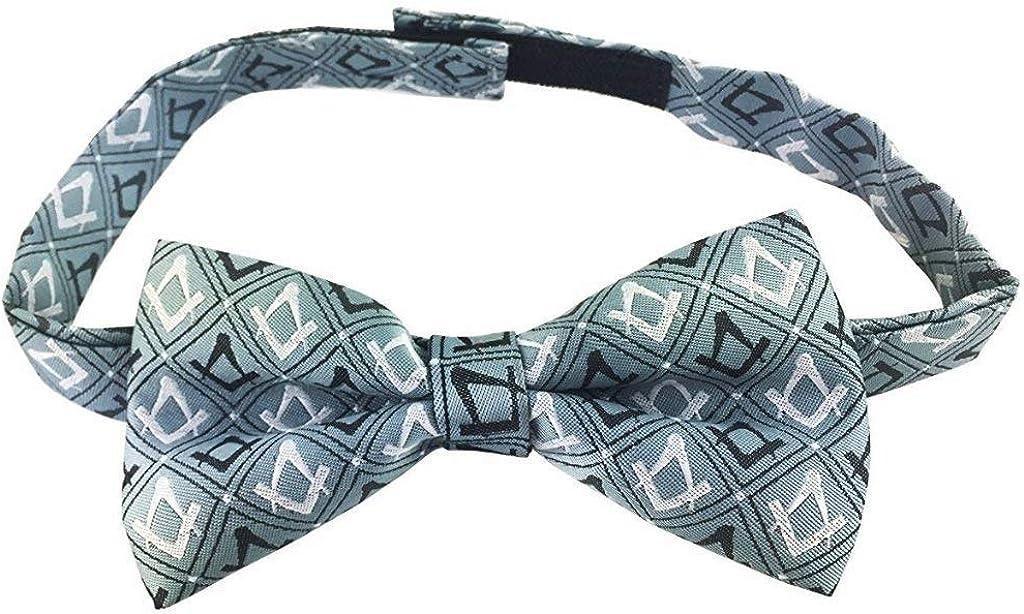 Masonic 100/% Silk Sq /& Compass Bow Tie
