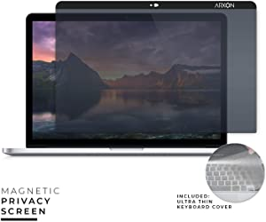 Arxon 13 inch Magnetic MacBook Pro and MacBook Air Privacy Filter Screen Protector, Anti-Glare, Ultra Clear, Removable, Washable, Easy On/Off Webcam Cover with Free TPU Keyboard Cover & Cleaning Cloth