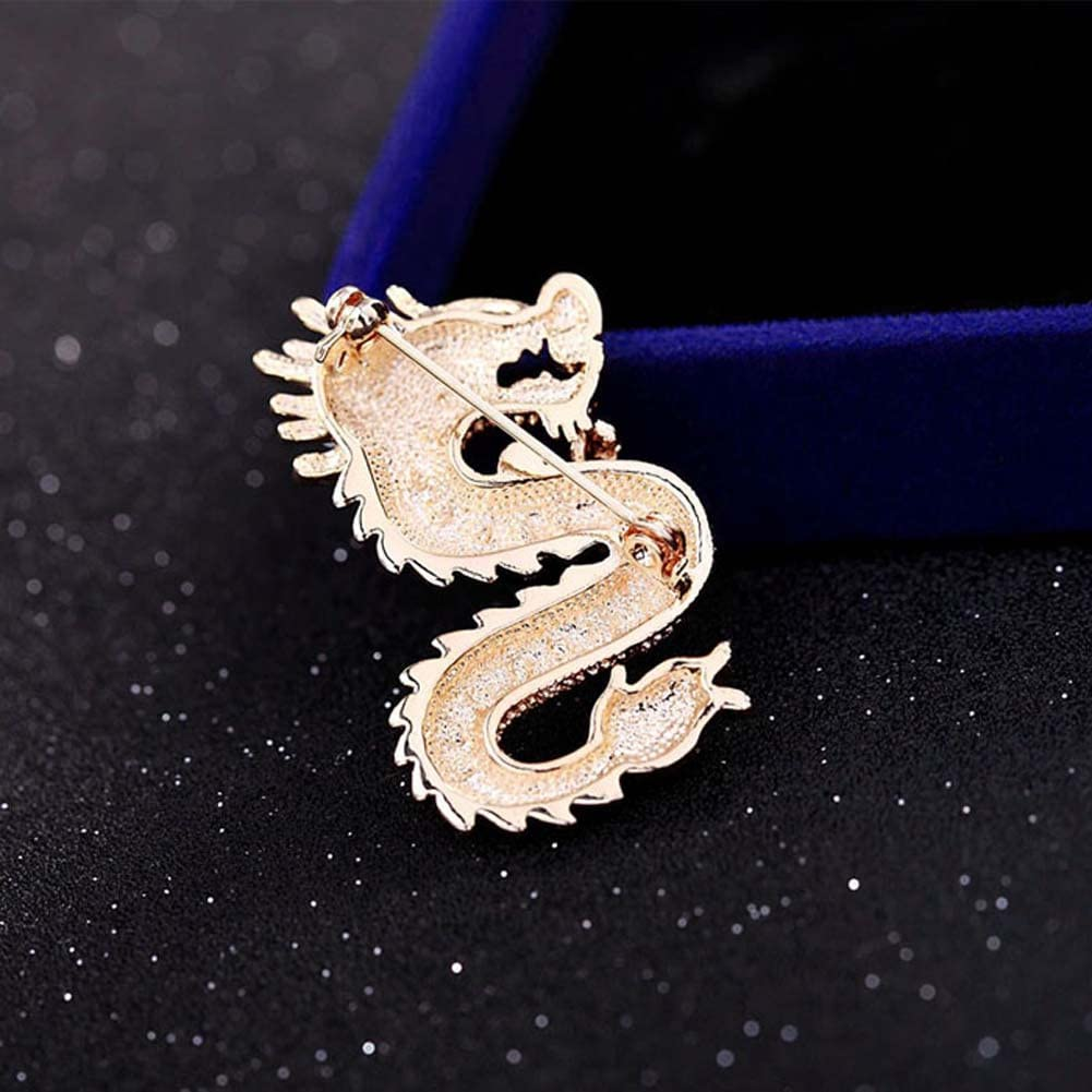 YUMILY Mens Handmade Dragon Lapel Pins Tie Pin Suit Brooch