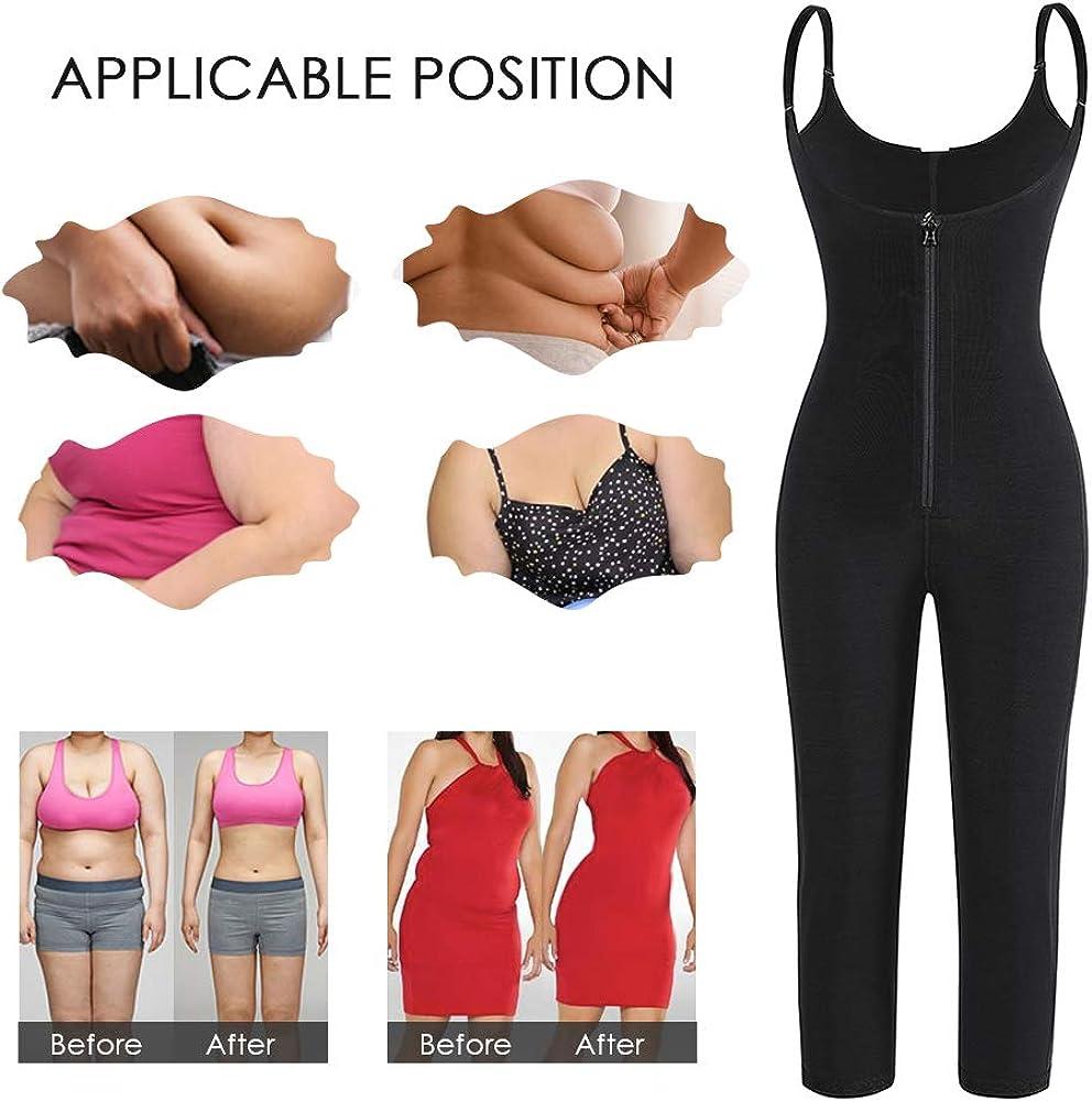 FeelinGirl Femme Gaine Amincissante Body Gainant Ventre Plat Lingerie Gainante Minceur Combinaisons Sculptantes Noir-54 M