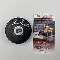 $49 » Autographed/Signed Bernie Parent Philadelphia Flyers Logo Hockey Puck JSA COA